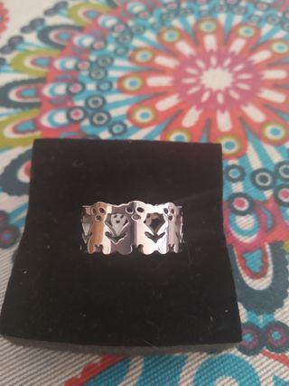 anillo acero