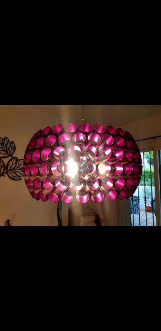 lampara de techo de colgar con 3 bombillas led inc