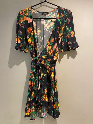 Vestido estampado de Zara. Talla S