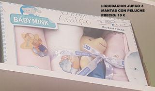 LIQUIDACION JUEGO 3 MANTAS CON PELUCHE