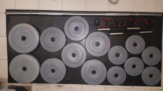 Pack de pesas 30 kg más barras