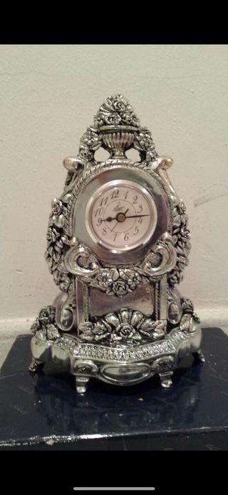 Reloj baño plata