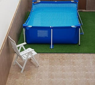 2 piscinas intex