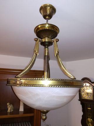lámpara salón, bronce,