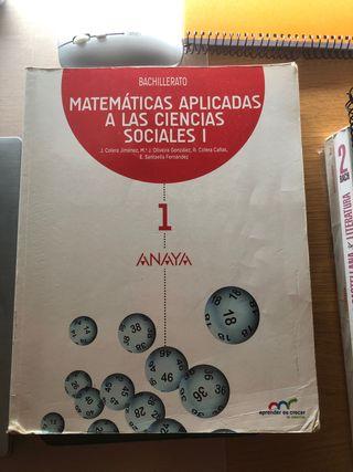 Libro matemáticas aplicadas 1 bachiller