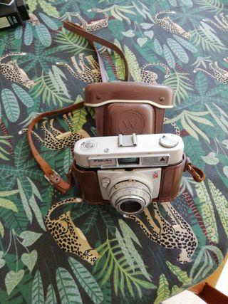 cámara de fotos antigua Werlisa color con funda