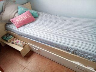 Cama de niños con cajón y colchón