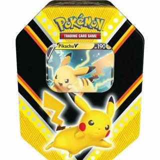 Lata metálica Pokemon Pikachu Juego Cartas