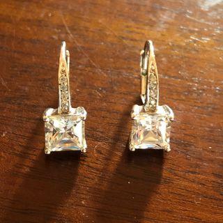 Stunning 925 Silver Austria Crystal Earrings