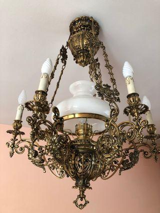 Lámpara techo bronce artesana
