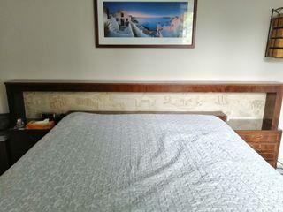 dormitorio matrimonio antiguo cabecero