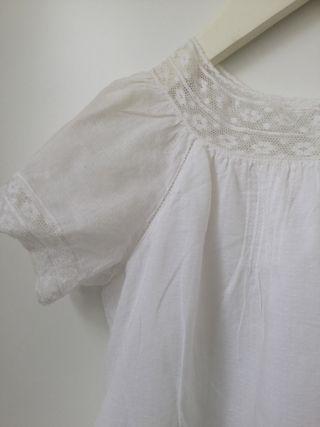 Vestido puntilla blanco BONPOINT (Talla 10)