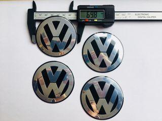 Nuevo PEGATINA DE CENTRO RUEDA VW NEGRO 70MM
