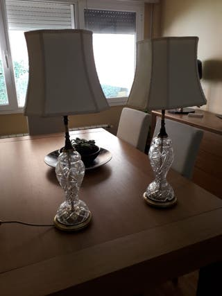 Lámparas de cristal de bohemia