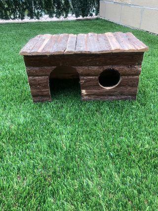 Caseta madera para conejos