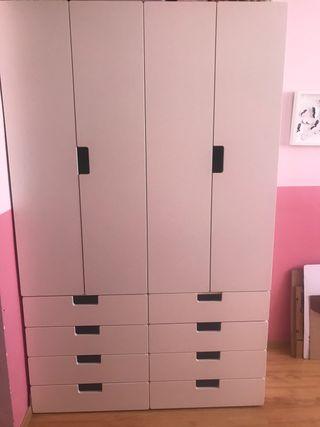 Mueble armario y cajoneras blanco IKEA stuva