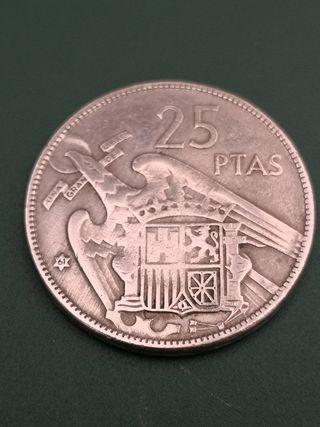 25 pesetas FRANCO 1957 *61