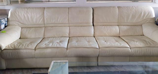 sofa de cuero de 5 plazas