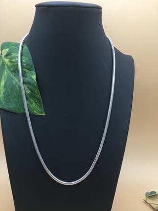 Cordón. collar, plata 925. 48 cm largo X 0,3 mm
