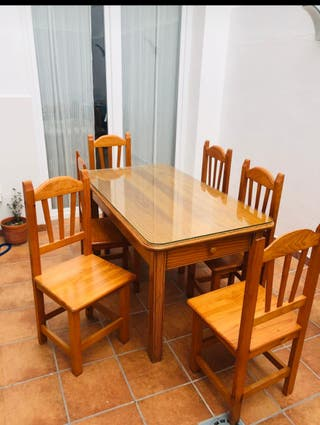 comedor de 6 puestos, mesa de centro