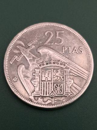 25 pesetas FRANCO 1957 *70