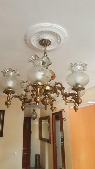 lámpara de salón de bronce