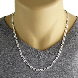 Collar, cadena ACERO macizo inoxidable macizo 3MM