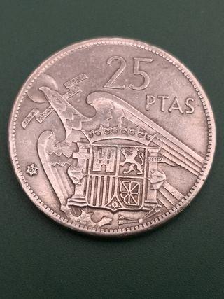 25 pesetas FRANCO 1957 *67
