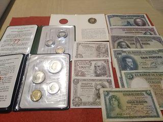 Monedas y billetes antiguos España