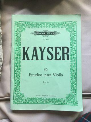 Kayser libro de estudios para violín