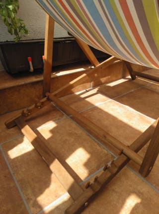 Tumbona/Hamaca madera.