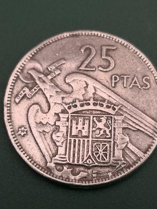25 pesetas FRANCO 1957 *59