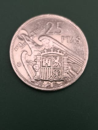 25 pesetas FRANCO 1957 *72