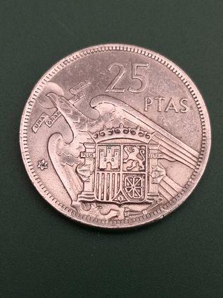 25 pesetas FRANCO 1957 *74