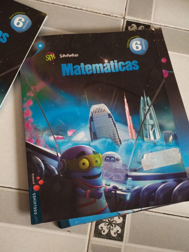 Libro matemáticas 6°primaria