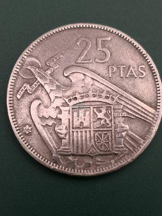 25 pesetas FRANCO 1957 *66