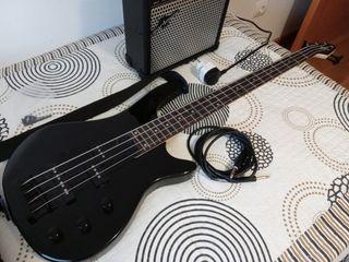 Bajo eléctrico + amplificador 15w