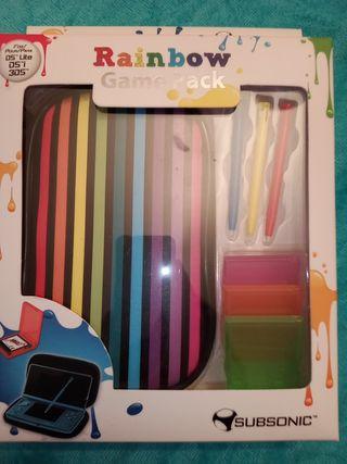 Funda transporte para 3DS, DSi y DS lite Rainbow