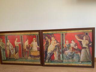 Láminas motivos Pompeya enmarcadas