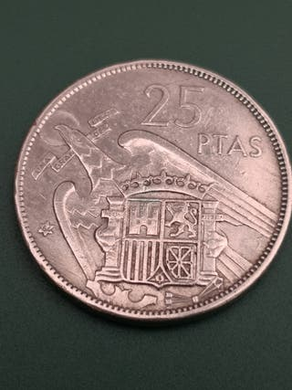 25 pesetas FRANCO 1957 *64