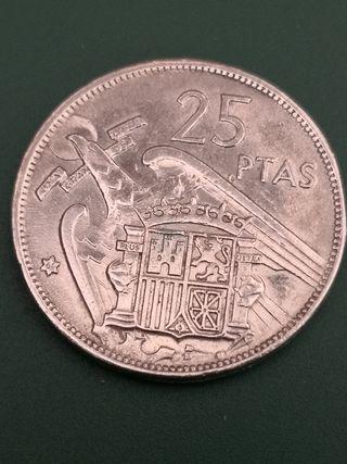 25 pesetas FRANCO 1957 *69