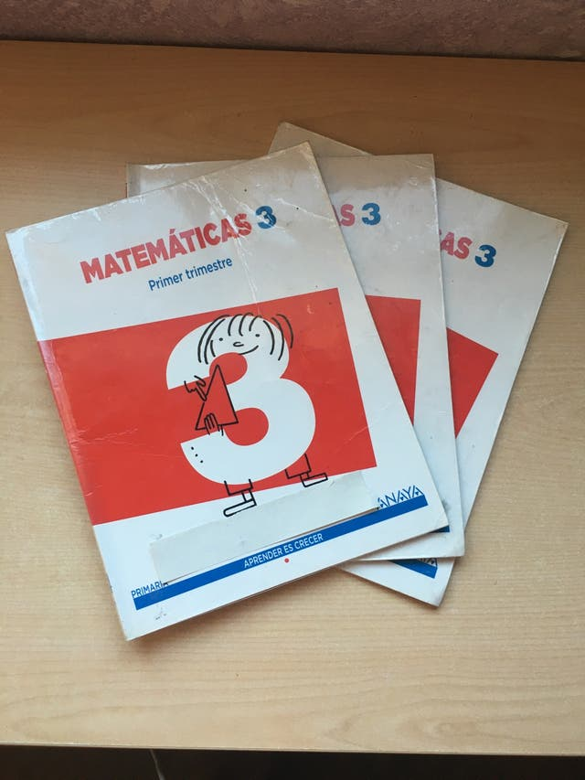 Libro matemáticas Anaya tercero de primaria