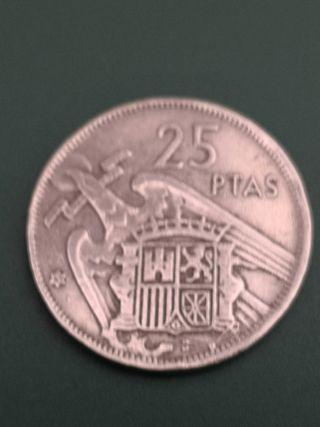 25 pesetas FRANCO 1957 *65