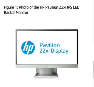 Monitor HP Pavilion 22 xi Display