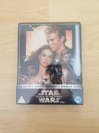 Star Wars EP II: Attack of the Colnes Blu Ray STEE