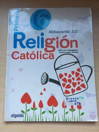 Libro de religión Algaida sexto de primaria