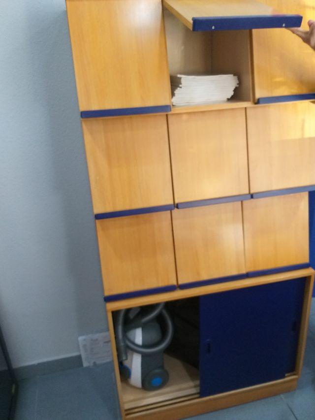 mueble cajonera con armario de puerta Corredera