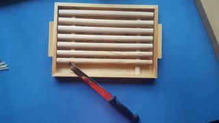Tabla para cortar pan + Cuchillo sierra