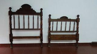 cabezal y pie de cama antiguos