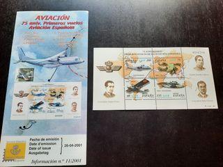 Aviación Española 75 aniversario Sellos Oficiales